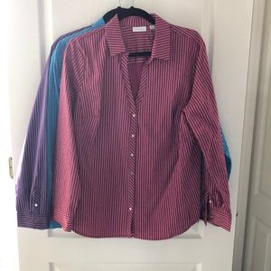 New York & Co Dress Shirt XL lot of 3